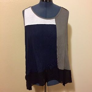 Lane Bryant Color Block Top sz 22/24